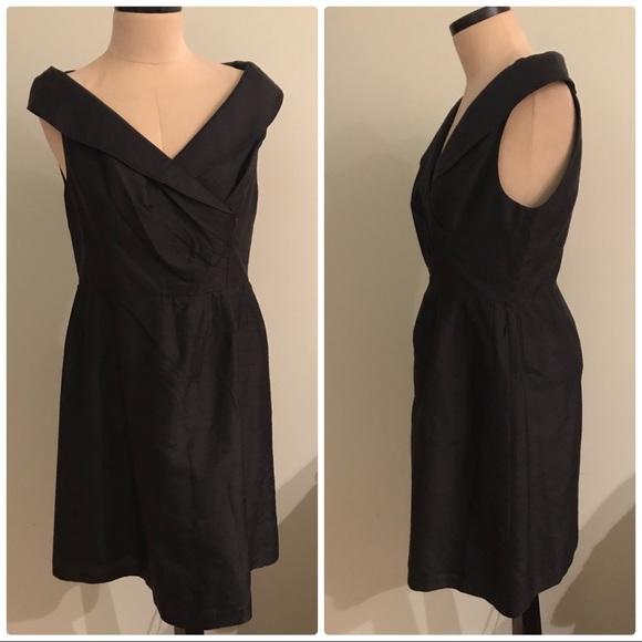 Talbots Dresses & Skirts - Pure Silk Black Cocktail Dress 14P Portrait Collar